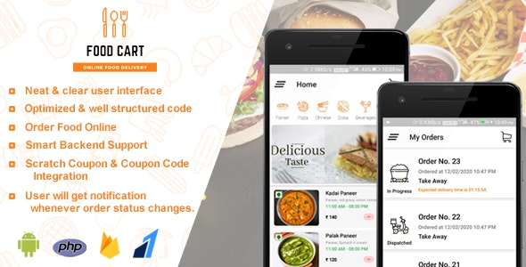 Food Cart - Online Food Delivery App - CodeCanyon Item for Sale