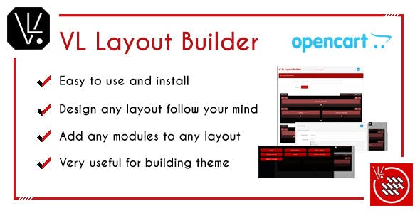 VL Layout Builder - Drag and Drop OpenCart 3 module