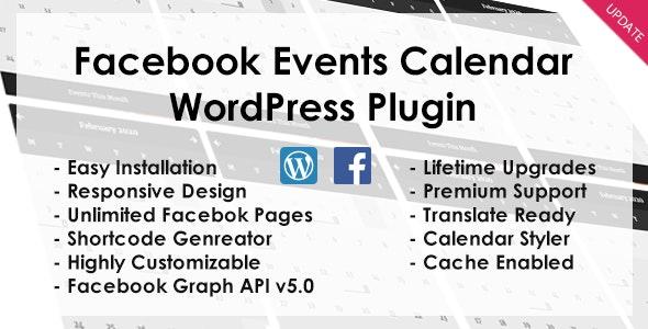 Facebook Events - WordPress Plugin - CodeCanyon Item for Sale