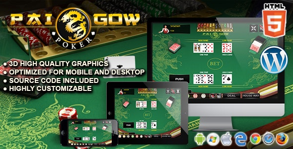 Pai Gow Poker - HTML5 Casino Game - CodeCanyon Item for Sale
