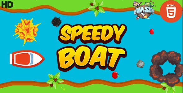 Speedy Boat - HTML5 Boat Game - CodeCanyon Item for Sale