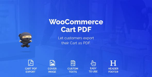 WooCommerce Cart PDF