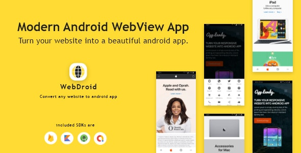 WebDroid - Convert Website to Modern Android App - CodeCanyon Item for Sale