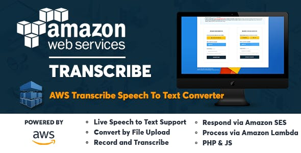 AWS Amazon Transcribe - Speech to Text Converter