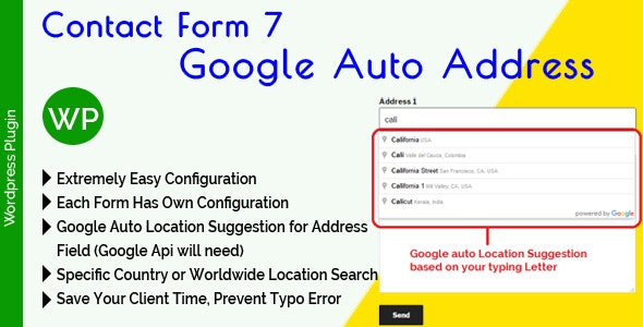 Contact Form 7 Google Auto Address Suggestion - CodeCanyon Item for Sale