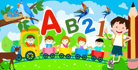 Preschool Learning : Kids ABC, Number, Colors, Day - Android App + Admob + Facebook Integration