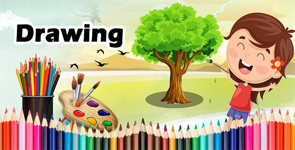 Kids Learning : Kids Paint, Paint Free, Drawing Fun - Android Game + Admob + Facebook Integration