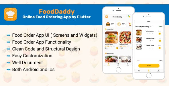 FoodDaddy-Online Food Ordering App By Flutter