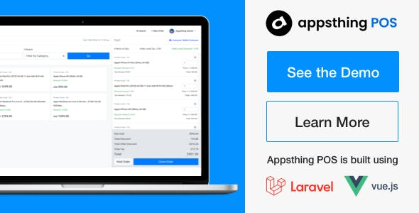 Appsthing POS - Multiple Store Point of Sale, Billing and Inventory Management Application