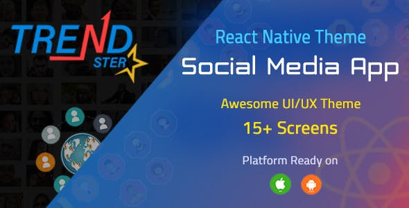 TrendSter React Native Social Networking App Template
