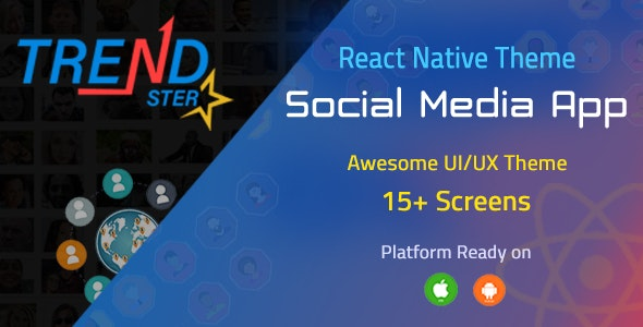 TrendSter React Native Social Networking App Template  - CodeCanyon Item for Sale