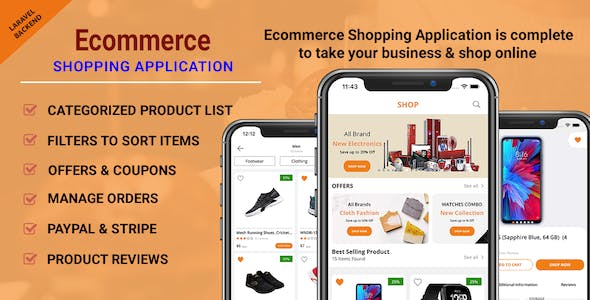 Ecommerce Shopping App - Take Your Shop Online With iPhone Application Swift