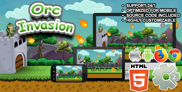 Orc Invasion - ( Archery Game / HTML5 )
