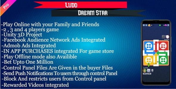 Ludo Dream Stars - For Android And IOS Unity 3D Code
