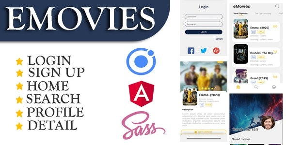 eMovies Reviews Movies - Ionic 4 - CodeCanyon Item for Sale