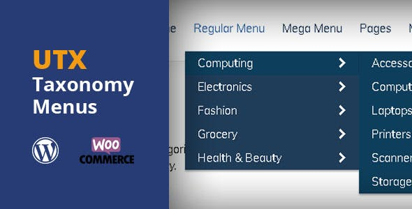 UTX Taxonomy Menus for WordPress