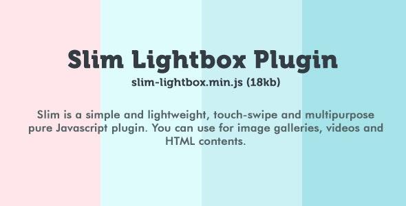 Slim Lightbox Plugin - CodeCanyon Item for Sale