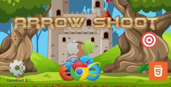 Arrow Shoot - HTML5 Construct 2 Game (.Capx)