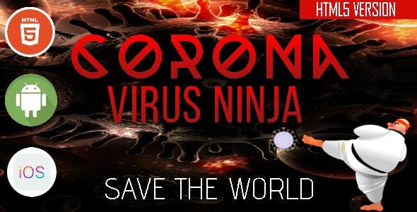 CoronaVirus Ninja - HTML5 Game - HTML5 Website