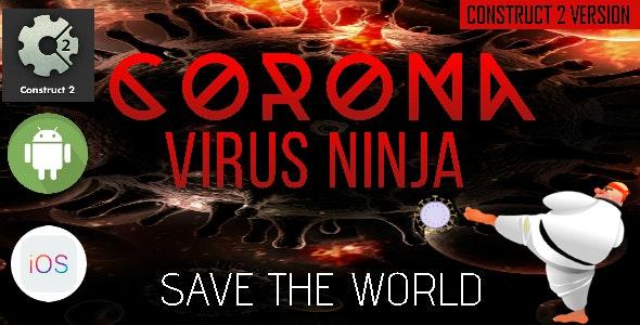 CoronaVirus Ninja - Construct 2 - Construct 3 CAPX Game - CodeCanyon Item for Sale