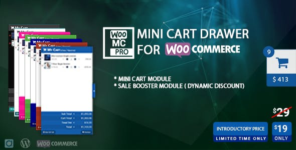 Mini Cart Drawer For WooCommerce