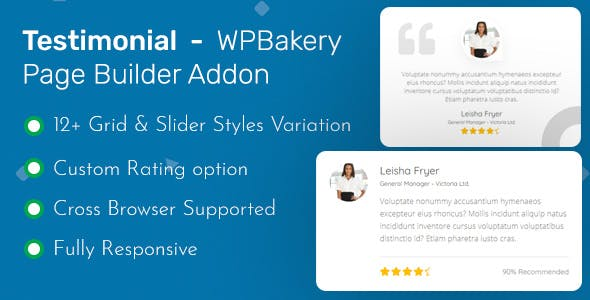 Testimonial - WPBakery Page Builder Addon