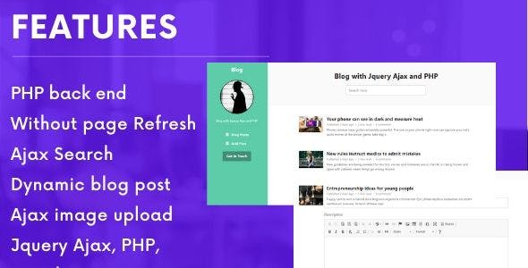 Dynamic Blog with Jquery Ajax and PHP