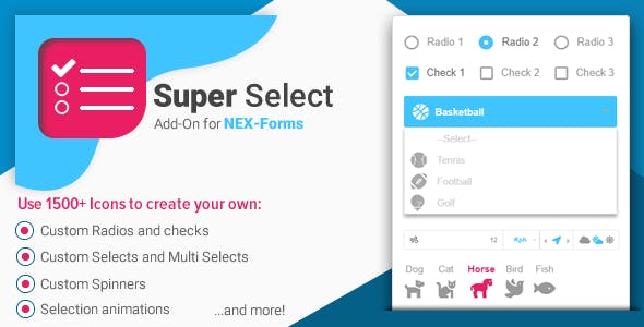 Super Selection Form Field for NEX-Forms