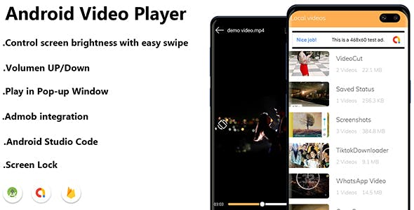 MX Player Clone - Android Video Player With AdMob - All Format HD Video Player