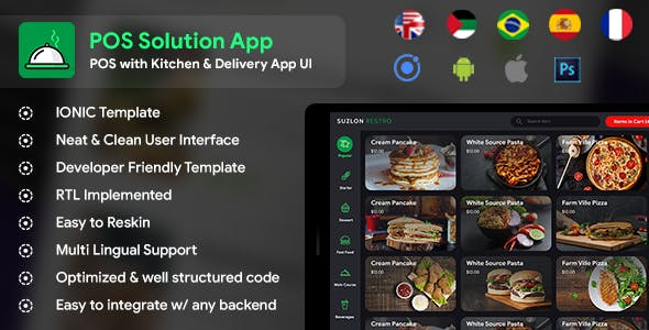 POS with Kitchen & Delivery App Template (HMTL + Css) IONIC 5