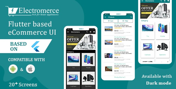 Electromerce - Flutter based eCommerce UI - CodeCanyon Item for Sale