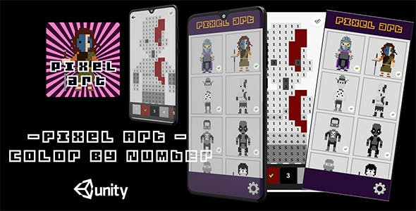 Pixel Art color by number unity template