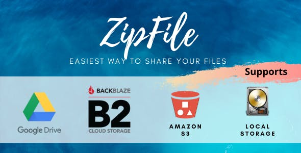 ZipFile : File sharing made easy & profitable. Use Google Drive, S3 and Backblaze to host files.