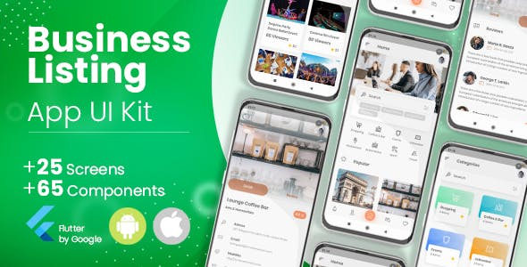 Business Directory, Listing Flutter App UI Kit
