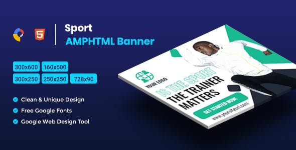 Sport AMPHTML Banners Ads Template