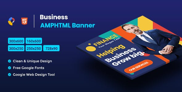 Business AMPHTML Banners Ads Template