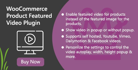WooCommerce Product Featured Video Plugin