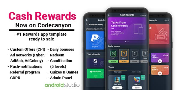 Cash Rewards - CPI Offers & Rewards App + PHP Laravel Admin Panel