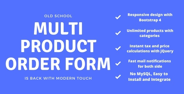 Multi Product Order Form - CodeCanyon Item for Sale