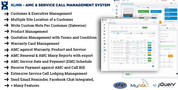 AMC and Service Call Management Application