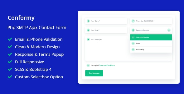 Conformy - PHP Ajax Modern Contact Form - CodeCanyon Item for Sale