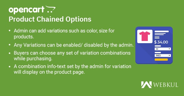 OpenCart Product Chained Options - CodeCanyon Item for Sale