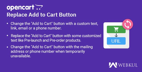 Opencart Replace Add to Cart Button