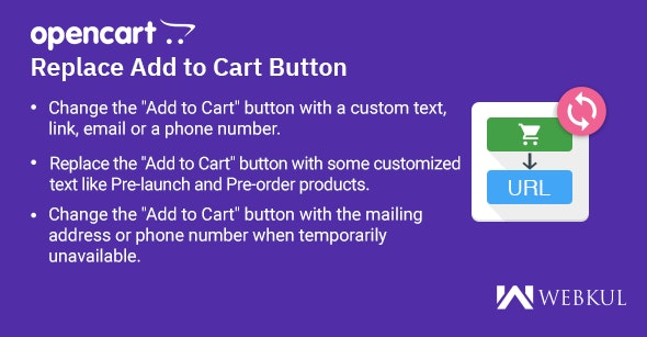 Opencart Replace Add to Cart Button - CodeCanyon Item for Sale