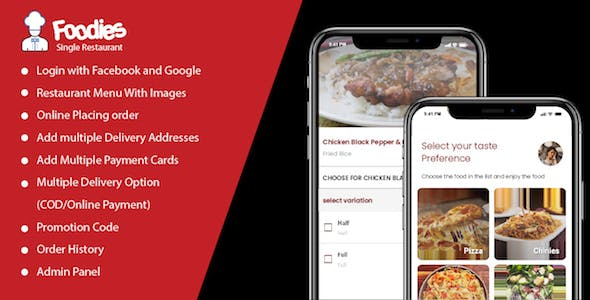 Foodies - A Single Restaurant Food ordering and delivering app V1.0.0