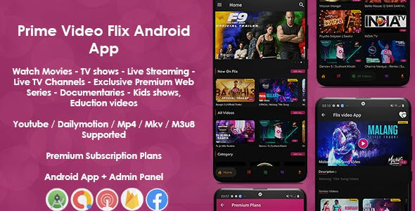 Prime Video Flix App: Movies - Shows - Live Streaming - TV - Web Series - Premium Subscription Plan