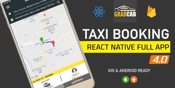 GrabCab React Native Full Taxi App
