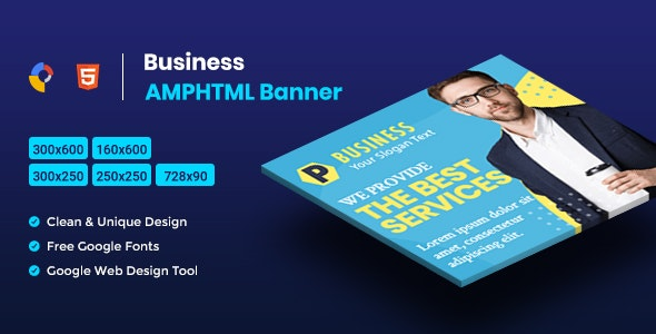 Business AMPHTML Banners Ads Template V04 - CodeCanyon Item for Sale