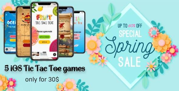 iOS Tic Tac Toe Bundle - 5 games