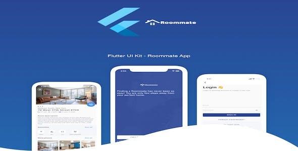 Flutter Find Roommate App UI